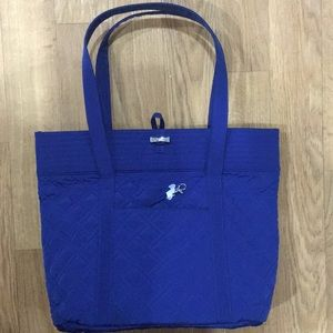 Vera Bradley Microfiber Classic Blue Tote Bag